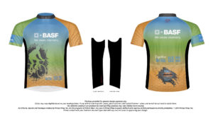 Approved Design Mock-up for BASF Bike MS Jersey Design