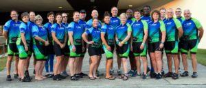 Group shot of BASF Bike MS Team Dat's How We Roll, 2016