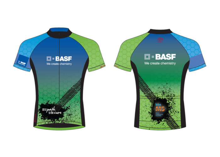 Mock up of BASF Bike MS Team Kit Design