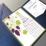 vineyard wedding invitation set