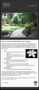 landscape designer email template