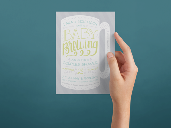 baby shower invite baby is brewing beer theme