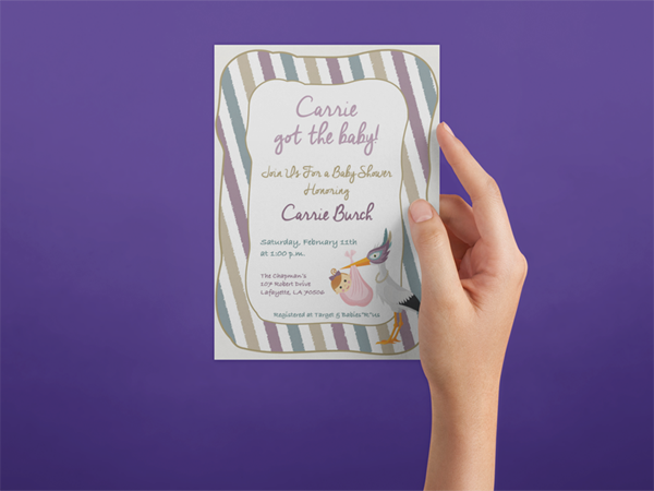 baby shower invite mardi gras theme