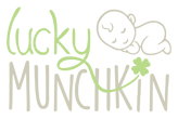 logo development for lucky munchkin kids brand