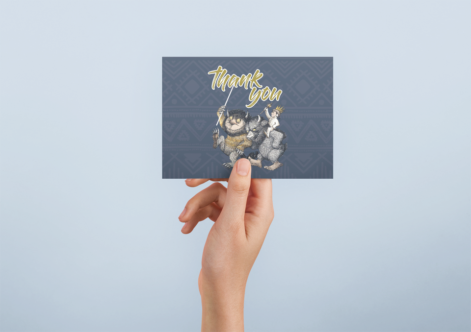 baby shower thank you cards where the wild things are theme