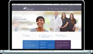 dr landry website on desktop