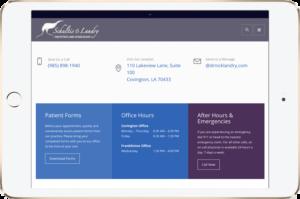 dr landry web site on tablet