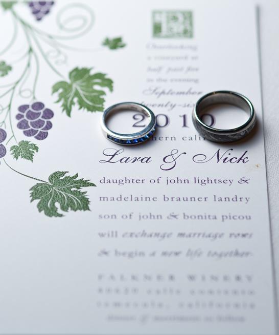 vineyard theme wedding invitation