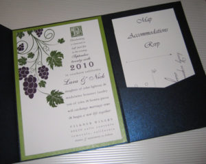 vineyard theme wedding invitation